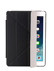 cheap -Case For Apple iPad Mini 4 iPad Mini 3/2/1 iPad 4/3/2 iPad Air 2 iPad Air with Stand Auto Sleep / Wake Flip Translucent Origami Full Body