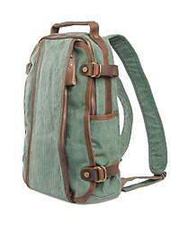 MUCHUAN 15.6 Inch Computer Shoulder Bag Canvas Travel Backpack