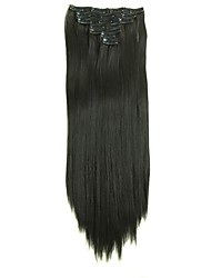 cheap -Synthetic Hair 58cm 150g with Clips 16 Clip in Hair Extensions False Hair Hairpieces Synthetic 23inch Long Straight Apply HairpieceD1015 4#