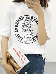 Sign spring and summer girls cartoon animals pattern letter t-shirt printing round neck T-shirt