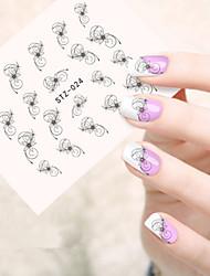 5pcs/set Hot Fashion Sweet Flower Vine Nail Art Water Transfer Decals Beautiful Flower Vine Sweet Design Nail DIY Sticker STZ-024