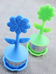 Flower Pot shaped Tea Infuser/Tea Strainer/Coffee & Tea Sets/silicone Tea (Random Color)