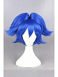 abordables -Mujer Pelucas sintéticas Corto Corte Recto Azul Con coleta Peluca de cosplay Pelucas para Disfraz