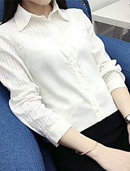 Assinar o novo japonês pequena cor sólida fresca camisa de mangas compridas camisa coreano magro teatral forro branco