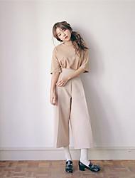 vita alta pieghe pantaloni gamba larga nuovi elementi di pressione coreano personalità della moda