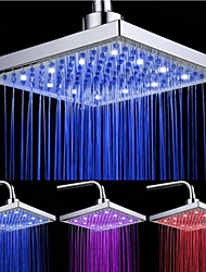 Top Spray Shower Head With Tricolor Luminous Color Temperature /8 Inch Water Booster Top Spray (ABS Plating)