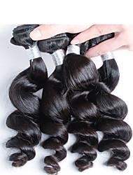 お買い得  -4個/ロット最高品質のペルーの人間の毛髪送料無料、トップグレードのバージンペルー緩いウェーブヘア
