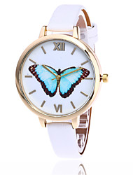 cheap -Fashion Butterfly Watch Casual Leather Women Quartz Wrist Watch Gift Clock Relogio Feminino