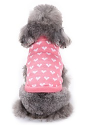 cheap -Cat Dog Sweater Dog Clothes Winter Hearts Fashion Casual/Daily Pink Princess Coat Pet Clothing