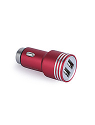 cheap -Car Charger Phone USB Charger Universal Fast Charge 2 USB Ports 3.1A DC 12V-24V For iPad For Cellphone For Tablet For iPhone For Smart