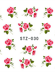 10pcs/set Hot Sale Nail Art Water Transfer Decals Beautiful Flower Design Nail Beauty Sticker DIY Beauty Decals STZ-030