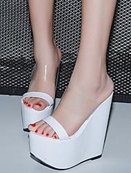 Da donna-Sandali-Formale-Club Shoes-Zeppa-PU (Poliuretano)-Bianco Nero