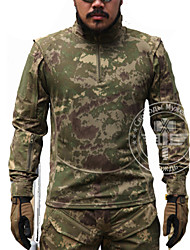 cheap -Hunting T-shirt Men's Waterproof Windproof Breathable Tactical Classic Top Long Sleeves for Hunting Leisure Sports