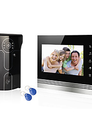 cheap -Home System Wired 7 Video Door Phone Intercom Entry System 1 Monitor  1 RFID Access Camera with Users Card