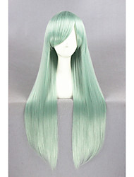 cheap -Synthetic Hair Wigs Straight Capless Carnival Wig Halloween Wig Cosplay Wig Long Green