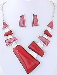 Недорогие -Жен. Комплект ювелирных изделий Дамы, Мода, Euramerican Включают Красный / Синий Назначение Для вечеринок Повседневные