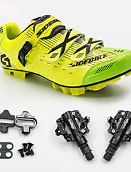 billiga -BOODUN/SIDEBIKE® Sneakers MTB-skor Cykelskor med pedaler och klossar Unisex Stötdämpande Bergscykling Cykling
