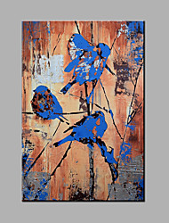 cheap -Hand-Painted Abstract Standing In The Bird On The Tree Oil painting Ready To Hang Modern One Panels Canvas Oil Painting For Home Decoration