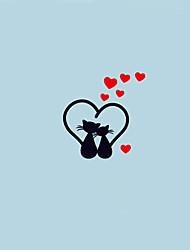 abordables -Animaux Romance Bande dessinée Stickers muraux Autocollants avion Autocollants muraux décoratifs Autocollants d'interrupteurs, Vinyle