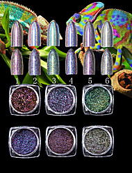 1PC Nail art Debris Super The Chameleon High-Grade 7 Colour Laser Powder