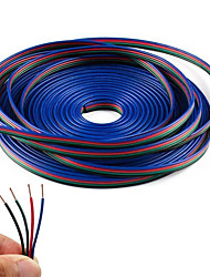 cheap -4 Color 5m RGB  Extension Cable Line for LED Strip RGB 5050 3528 Cord 4pin