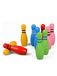 cheap -Balls Wooden Puzzles Bowling Toys Fitness Toys Bowling Game Educational Toy Eco-friendly Colorful Gift Kid's