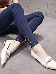 assinar 17 versão coreana da Primavera padrão de diamante ultra-calças de brim elásticas grandes estaleiros foi desgaste exterior