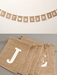 cheap -Wedding Engagement Valentine Valentine's Day New Year Wedding Party Eco-friendly Material Jute Wedding Decorations Beach Theme Garden