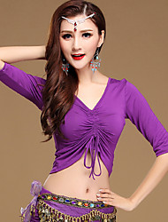 cheap -Belly Dance Tops Women's Training Cotton Modal Half Sleeves Top