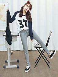 firmare 2017 nuovi jeans stretti di stirata sottili nove punti frangia femminile