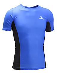Malciklo Fahrradtrikot Unisex Kurzarm Fahhrad T-shirt Sweatshirt Oberteile Rasche Trocknung Anatomisches Design Hohe Atmungsaktivität