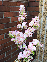 Недорогие -1 Филиал Шелк Сакура Искусственные Цветы 100
