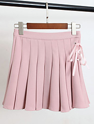 2017 spring fashion strap design perspective pleated pants body lined skirts skirt female Sign