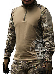 Hunting T-shirt Waterproof Windproof Breathable Tactical Men's Long Sleeves Classic Top for Hunting Leisure Sports Spring Summer Winter