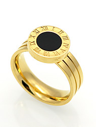 Men's Women's Band Rings Unique Design Geometric Circle Rock Euramerican Costume Jewelry Double-layer Fashion Vintage Personalized Agate