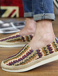 Men's Loafers & Slip-Ons Spring Summer Comfort Moccasin Light Soles Customized Materials Outdoor Office & Career Casual Flat HeelBeige