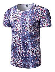 Masculino Camiseta Casual Activo Todas as Estações,Estampado Poliéster Decote Redondo Manga Curta Média