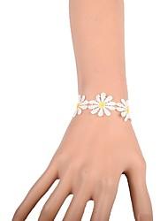 Per donna Bracciali a catena e maglie Di tendenza Pizzo A forma di fiore Gioielli Per Matrimonio Feste Occasioni speciali Compleanno