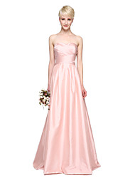 cheap -A-Line Sweetheart Floor Length Taffeta Bridesmaid Dress with Pleats by LAN TING BRIDE®