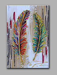 Hand-Painted Abstract Beautiful Feather Modern One Panel Canvas Oil Painting For Home Decoration