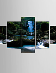Photographic Print Landscape Modern Pastoral,Five Panels Canvas Any Shape Print Wall Decor For Home Decoration