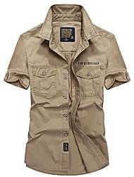 preiswerte -Herrn Hemd für Wanderer Rasche Trocknung Atmungsaktiv T-shirt Oberteile für Camping & Wandern Angeln Sommer XL XXL XXXL XXXXL 5XL