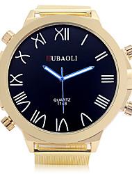 cheap -JUBAOLI Men's Sport Watch Casual Watch Quartz Large Dial Alloy Band Black Gold