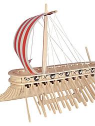 Kit de Bricolage Blocs de Construction Puzzles 3D Jouet Educatif Puzzle Puzzles en bois Jouets Navire de Guerre Bateau Homme Femme Enfant