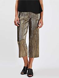 Европейская и американская торговля большие заказы на мелкие золотые плиссированные широкие штаны приток новых весенних и летних диких