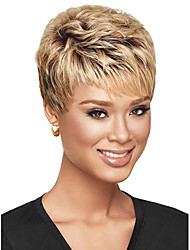 Silky Straight Short Bob style Black To Blonde Color Synthetic Wigs For Women