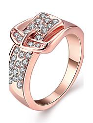preiswerte -Damen Ring Kubikzirkonia Gold Zirkon Kupfer Rose Gold überzogen Aleación Geometrische Form Personalisiert Geometrisch Einzigartiges