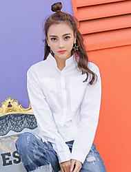 знак Япония и Южная Корея 2017 весной новый свободный персонализированный карман винни раза талия была тонкой дикая рубашка