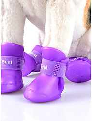 Cat Dog Shoes & Boots Cute Sports Fashion Windproof Reversible Waterproof Solid PU Leather