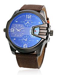 JUBAOLI Pánské Módní hodinky Křemenný Materiál Kapela Černá Modrá Hnědá Zelená Fialová